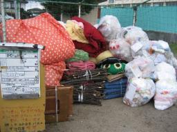 4月からの有料化を前に、ゴミの持ち出しが増えてます
