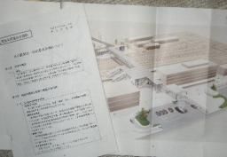 米子駅南北一体化計画の説明資料