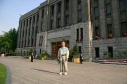 11日朝、ソウル特別市庁前にて