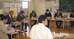 PTA役員、校長らが参加した分散会