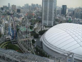 文京区役所から見下ろす東京ドーム