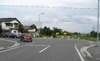 路線が中断されている市道内浜中央線