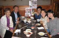 家族5人で外食を楽しみました