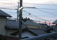 わが家の2階からの夕方の風景(6時前)