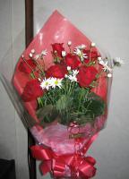 誕生日のお祝いに妻に贈った花束