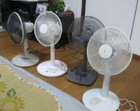 わが家の扇風機群