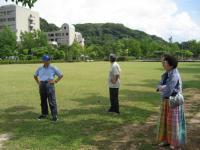 湊山公園・自由広場を下見