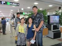 米子空港にて出発前