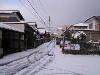 今シーズン初めての積雪(わが家の近所)