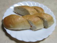 いただいた給食用のパン